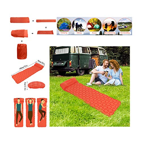 [ US Stock ] Self-Inflating Camping Pads | Camping Sleeping Pad - Mat, Ultralight 19.4 OZ, Best Sleeping Pads for Backpacking, Lightweight, Inflatable & Compact, Camp Sleep Pad (G)