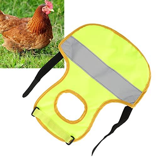 Delantal de gallina, resistente y cómodo chaleco reflectante para mascotas Soporte de protección de plumas con tira reflectante para protección para pollos y patos(green)