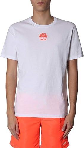 MSGM Homme 2640MM200S19521901 Blanc Coton T-Shirt