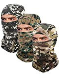 3 Pieces Balaclava Mask Motorcycle Windproof Camouflage Fishing Face Cover (Color Set 3)