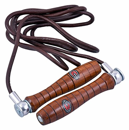 Maxx real leather adjustable weighted skipping rope fittness