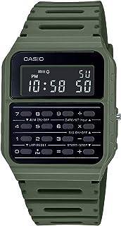 Data Bank Quartz Watch with Resin Strap, Green, 24.1 (Model: CA-53WF-3BCF)