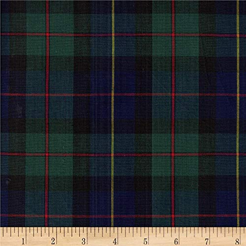 Textile Creations Classic Yarn-dyed Tartan Plaid Green/Navy/Red Fabric By The Yard