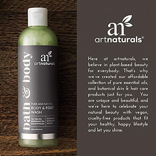 artnaturals Tea Tree Body Wash - (12 Fl Oz / 355ml) - Peppermint and Eucalyptus Oil - Natural Soap - Dry Skin,...