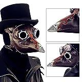 Gótica máscara piel sintética Peste médico pájaro Beak disfraz Cosplay Halloween–Steam Punk Halloween Plague Beak Doctor Mask Cosplay Mask