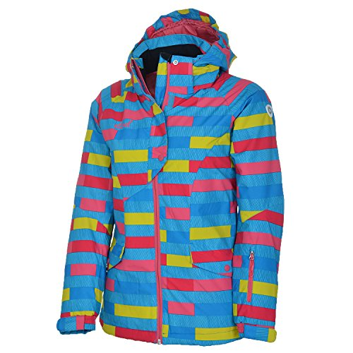 etirel Pamela Kinder Jacke Skijacke Kids Winterjacke Mädchen vers. Farben, Größe:164;Farbe:Multicolor/Blue Light/Red/Green Lime