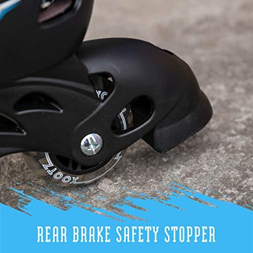 Xootz Kids Inline Skates, Adjustable Beginner Roller Blade Boots, Boys, Blue/Black