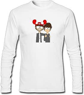 Hefeihe DIY Tiesto Coexist Logo Men's Long-Sleeve Fashion Casual Cotton T-Shirt
