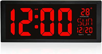 DUHUI Despertador LCD Large Screen Electronic Mute Alarm Clock Digital