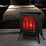 AABBC Estufa eléctrica Independiente para Chimenea con Efecto de Llama LED, Calentador Interior Compacto de 1500 W para mesas, Sala de Estar, termostato, función de calefacción conmutable, Efectos
