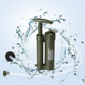 Lixada Pure Facile Portable céramique 0,1 Micron 2000 L Soldat du Filtre à Eau purificateur d'aspirateur pour la Survie en Plein air randonnée Camping d'urgence