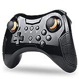 JIN Bluetooth gamepad vibración detección ergonomía juego inalámbrico joystick controlador compatible Consola de juego Consola de juego-Negro