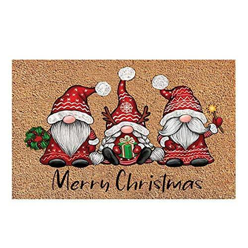 Baitang Felpudos Entrada Casa, Navidad Felpudo De Entrada Antideslizante, Alfombrilla Decorativa Carta Navideña para Puerta, Pasillo, Cocina, Dormitorio, 40 X 60 X 0.7 CM
