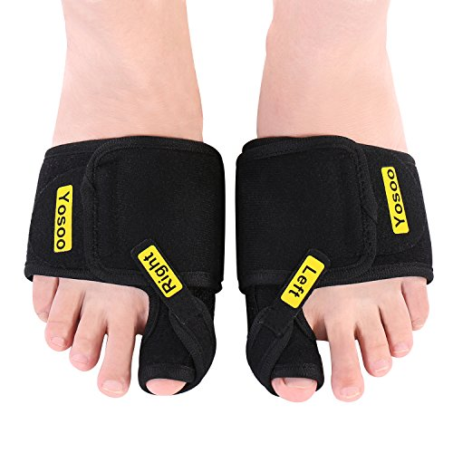 Bunion Correctors, 1 Pair Adjustable Soft Bunion Splints Brace Big Toe Straighteners Separators Nighttime Support Relief for Hallux Valgus, Overlapping Toe, Turf Toe, Bunion Pain Aid Surgery