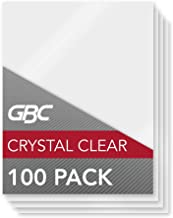 GBC HeatSeal Lamination Pouches, Crystal Clear, 100/Pack (3200403)