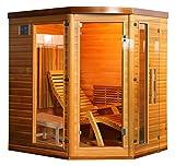 Cabina a infrarossi ottimale/sdraiato/stufa/legno di Hemlock.