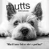 2020 Mutts 壁掛けカレンダー 12 x 12インチ (閉じた状態)