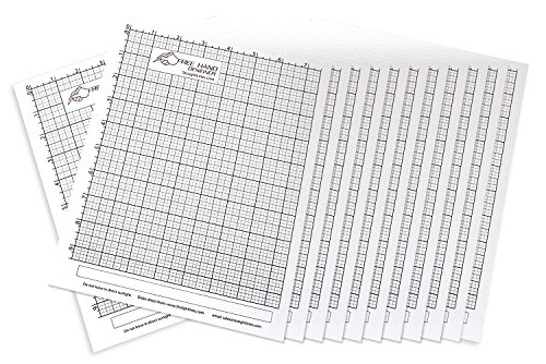 12 x Grid Type Lettersize 'Freehand Designer' Sheets. Draw Perfect Straight Lines Templates. Grid Type Sheets for Scale Drawings