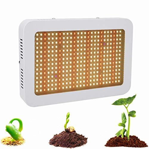 ZJING 120W LED Pflanzenlampe Knob Anpassung Double Core Pflanzenlicht Wachstumslampe Einstellbar Volles Spektrum Zimmerpflanzen Gemüse Und Blume
