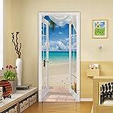 3D Door Decal Door Stickers Decor Door Mural Removable Vinyl Door Wall Mural Door Wallpaper for Home Decor 30.3x78.7inches