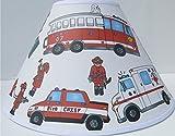 Fire Truck Lamp Shade / Fire Truck Room Decor
