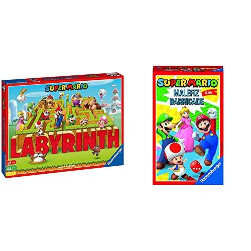 Ravensburger 26063 Familienspiele Super Mario Labyrinth, Mehrfarbig & Mitbringspiele 20529 - Super Mario Malefiz®-Spiel