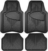 Armor All 78846 Black Rubber Interior Floor Mat, 4 Piece