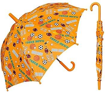 RainStoppers Boy s Sports Star Print Umbrella 34-Inch W104CHSPORTST Yellow