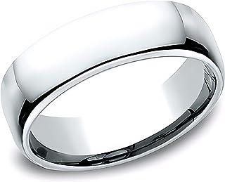 Sponsored Ad - Eros Jewelry Wedding Ring, 14K White Gold Wedding Band for Men, Light Comfort Fit 6.5 mm Men's Wedding Band