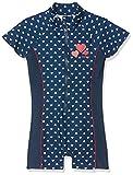 Playshoes Baby-Mädchen UV-Schutz Einteiler Herzchen Badeanzug, Blau (Marine 11), 74/80
