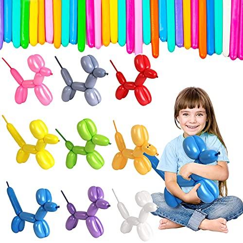 Palloncini Modellabili, 100 Pezzi Palloncini Lunghi in Lattice Magici Palloncini Lattice Palloncini Colorati Modellabili, per Decorazioni per Feste Compleanni o Cerimonie (colore)