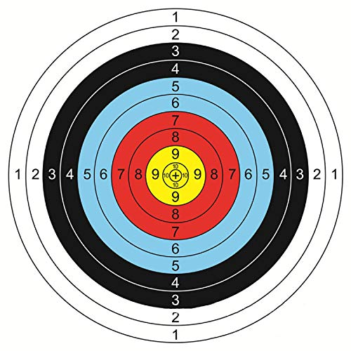 Nicoone Diana de tiro con arco, 30 unidades, 40 x 40 cm
