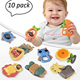 TUMAMA Baby Neugeborenen Rasseln Spielzeug, Shake und GRAP Rassel Spielzeug Tier Handbells für 3 6 9 12 Monate Infant Boy Girl Geschenke, Packung mit 10