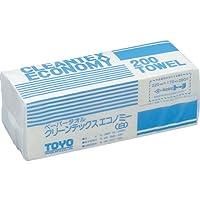 トーヨ クリーンテックスエコノミー白 200枚×40P 1Cs(箱)=8000枚 242030-4996 【3325300