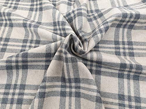 Tela de lana a cuadros de tartán – tela suave 100% lana para costura, decoración y tapicería – Regalo ideal – Hecho en Italia – se vende por metro