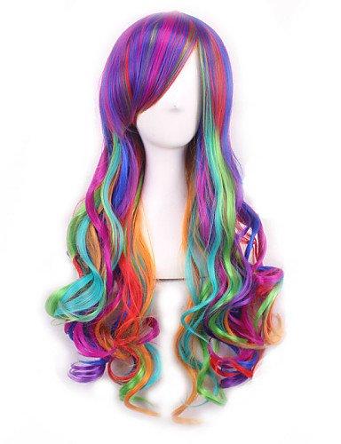jiayy Lolita Ombre perruque pelucas Poil pelucas synthétiques naturelles chauffant pelucas Cosplay D'Anime Perruque résistants Peruca Bouclé 24\