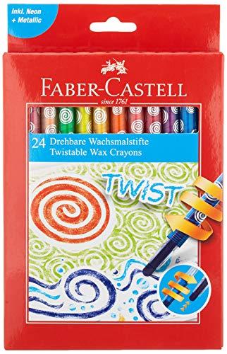 Faber-Castell 24 drehbare Wachsmalstifte