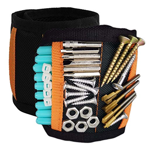 Magnetic Wristband,Tool Belts with 15 Powerful Magnets for Holding Screws, Nails, Drill Bits, A Unique Gift Item For - Men/Women,DIY Handyman, Woodworker