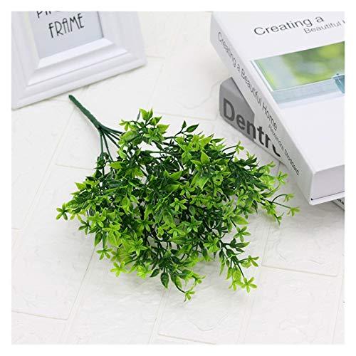ADosdnn Künstliche Pflanze Blume mit Blatt Kunststoff grün Gras-Baum Pflanze Fälschungs-Blatt-Laub Bush for Haus Hochzeitshotel Party Decor (Color : 4)