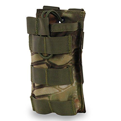 WarmHeartting Revista Bolsa de Camuflaje para M4 M16 AR15 HK416 Open Top mag Holder Airsoft mag Bolsa táctica Mochila Chaleco Accesorios Molle