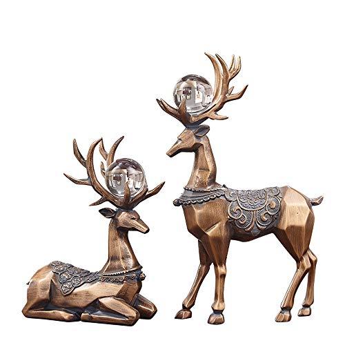 Xiao Jian- Herten ornamenten ambachten Europese en Amerikaanse Stijl Herten Decoratie Ornamenten Thuis Woonkamer TV Kabinet Multifunctionele Ambachten Luxe Meubels Ambachten