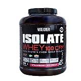 Weider Isolate Whey 100CFM 908gr Sabor Fresa. 100% aislado de proteina de suero. Cero azúcar, cero aspartamo, con stevia, con dygezime, con BCAA, apto para veganos. Isolac. Para dietas keto.