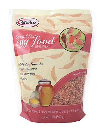 Quiko Special Red Egg Food Supplement, Red-Factor Formula With Canthaxanthin For Canaries, 1.1 Lb. Pouch