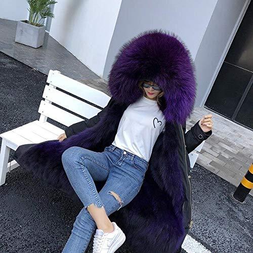 JIANYUXIN Mantel Parka Winterjacke Damen Ledermantel Schwarz Mode Lässig Parka Mantel Dicken Warmen Mantelmantel Streetwear