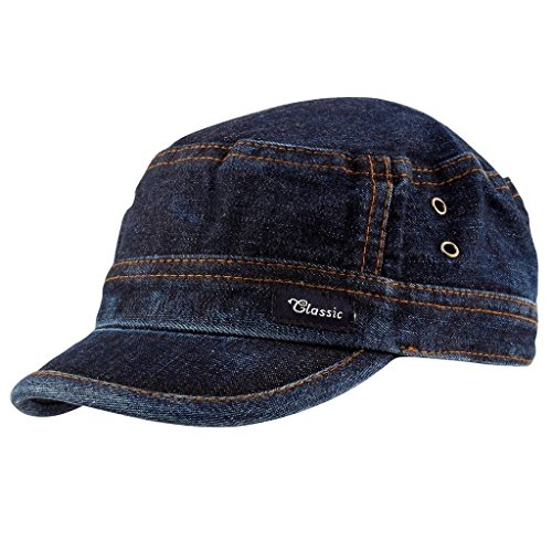 TyranT Unisex Denim Cap ( Blue Denim, Free Size )