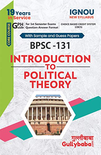 IGNOU (CBCS) BPSC-131 Intoduction to political theory notes in English medium: Solved Sample Paper and Important Exam Notes
