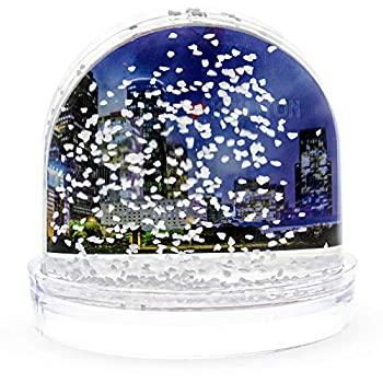 BestPysanky Insert Your Own Picture Frame Snow Globe with White Base 3.5 Inches