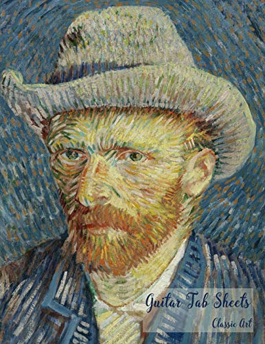 Guitar Tab Sheets Classic Art: Large Guitar Tabs Music Notation and Songwriting Notebook, Van Gogh – Self Portrait – (PD-1923) Cover