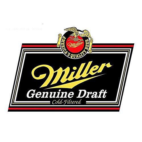 13Cm X 8.7Cm voor Miller Echte Draft Bier Novelty Decal Occlusion Scratch Vintage Drag Racing Decal Repair Sticker