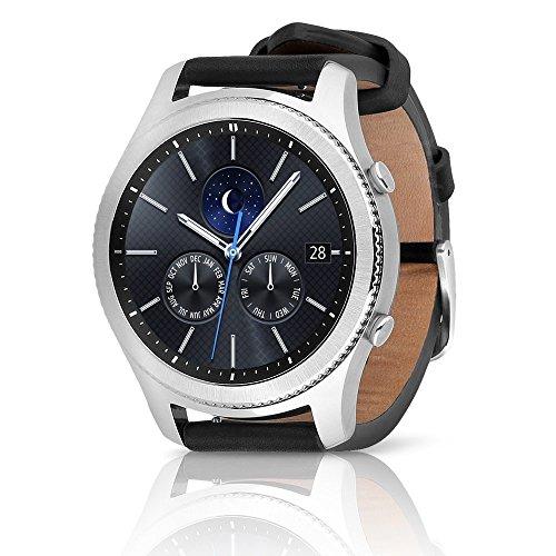 Samsung Gear S3 Classic SM-R775V (Verizon 4G) Smartwatch - Black Leather (Renewed) (Large Band)